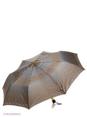 Зонт H.DUE.O. Цвет: коричневый, голубой