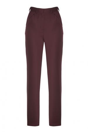 Шерстяные брюки Arapkhanovi. Цвет: красный