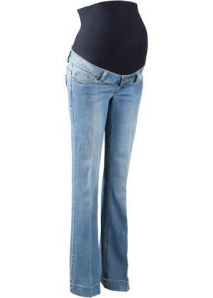Мода для беременных: расклешенные джинсы (голубой выбеленный) bonprix. Цвет: голубой выбеленный