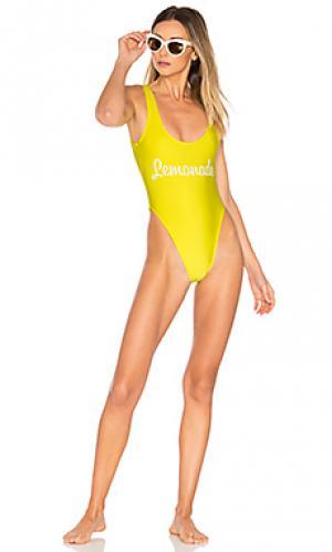 Слитный купальник lemonade Private Party. Цвет: желтый