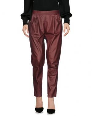 Повседневные брюки E_GO' SONIA DE NISCO. Цвет: красно-коричневый