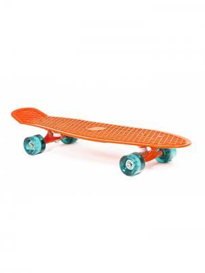 Скейт пластиковый 27X8 оранжевый Moove&Fun. Цвет: оранжевый