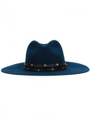 Studded band felt hat Sensi Studio. Цвет: синий