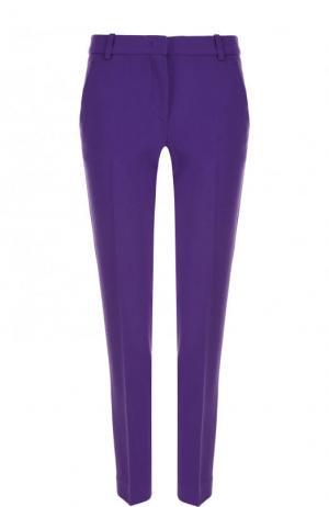 Однотонные укороченные брюки со стрелками Emilio Pucci. Цвет: фиолетовый