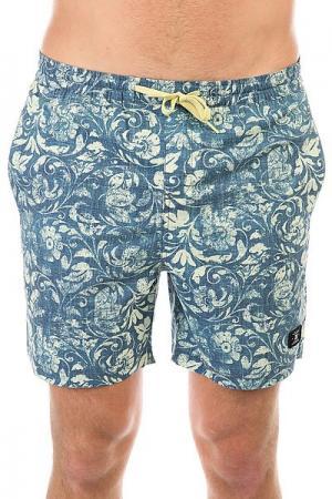 Шорты пляжные DC Hendron 16.5 Chardonnay Regal Rag Shoes. Цвет: синий,бежевый