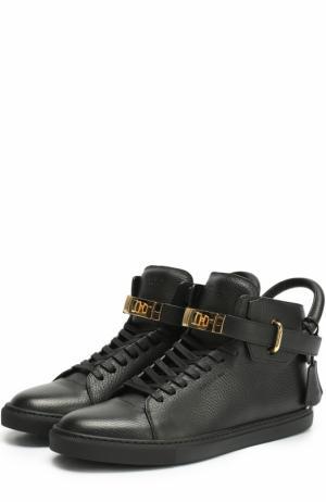 Высокие кожаные кеды на шнуровке Buscemi. Цвет: черный