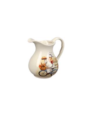 Кувшин Рынок 1100мл в п/у. Elff Ceramics. Цвет: белый, желтый