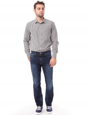 Рубашка F5. Цвет: коричневый, белый, синий