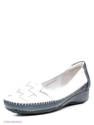 Туфли Shoiberg. Цвет: белый, темно-синий