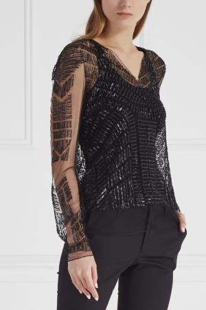 Блузка J. Mendel. Цвет: черный