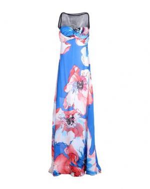 Длинное платье FISICO-CRISTINA FERRARI. Цвет: синий