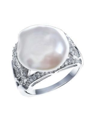 Кольцо Teosa. Цвет: серебристый, кремовый