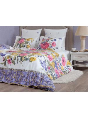 Полутороспальное постельное белье Хлопковый Край. Цвет: белый, серый, розовый, желтый