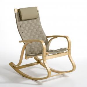 Кресло-качалка Jimi La Redoute Interieurs. Цвет: бежевый