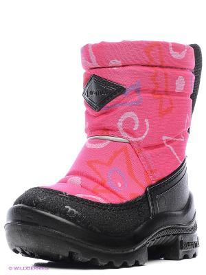 Полусапожки KUOMA. Цвет: бледно-розовый, розовый, белый
