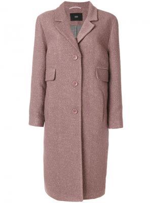 Пальто с прорезными карманами Steffen Schraut. Цвет: розовый и фиолетовый