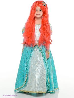 Карнавальный костюм Принцесса Ариэль Батик. Цвет: бирюзовый