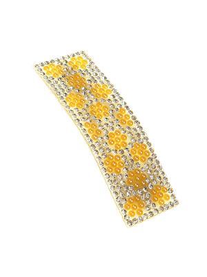Заколка Migura. Цвет: желтый, серебристый