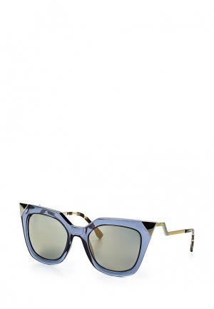 Очки солнцезащитные Fendi. Цвет: синий