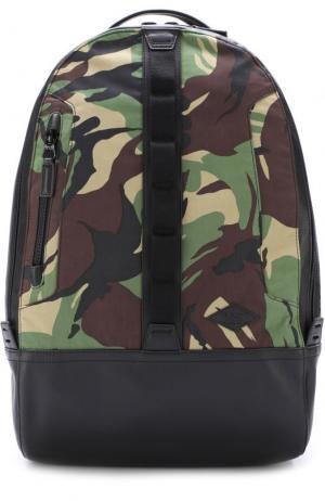 Текстильный рюкзак на молнии Rag&Bone. Цвет: хаки