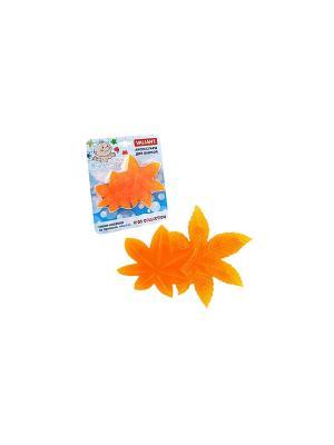 Мини-коврик ЛИСТОЧКИ на присосах, набор 6 шт. VALIANT. Цвет: оранжевый