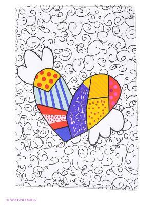 Обложка для паспорта Крылатое сердце Mitya Veselkov. Цвет: белый, красный, серый