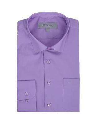 Сорочка STENSER. Цвет: лиловый