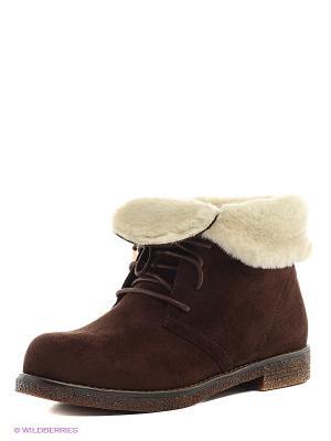 Ботинки INARIO. Цвет: темно-коричневый