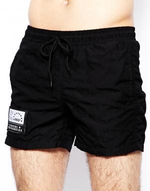 Черные шорты для плавания Pa:Nuu Monte. Цвет: черный