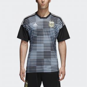 Домашняя предматчевая футболка сборной Аргентины  Performance adidas. Цвет: черный