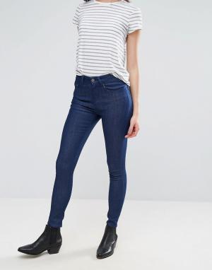 Waven Укороченные классические джинсы скинни Freya. Цвет: синий