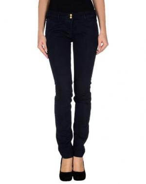 Повседневные брюки ONE SEVEN TWO. Цвет: темно-синий