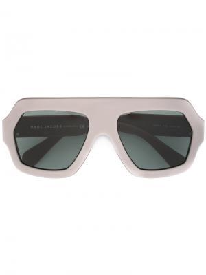 Объемные солнцезащитные очки Marc Jacobs Eyewear. Цвет: красный