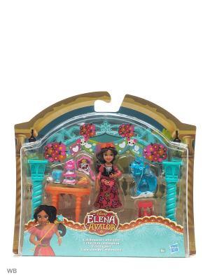 Игровой набор для маленьких кукол Елена - принцесса Авалора Disney Princess. Цвет: красный