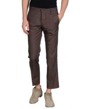 Повседневные брюки DANIELE ALESSANDRINI HOMME. Цвет: темно-коричневый