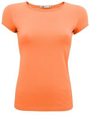 Футболка Oodji. Цвет: оранжевый