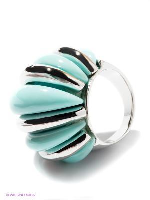 Кольцо Lovely Jewelry. Цвет: бирюзовый, серебристый