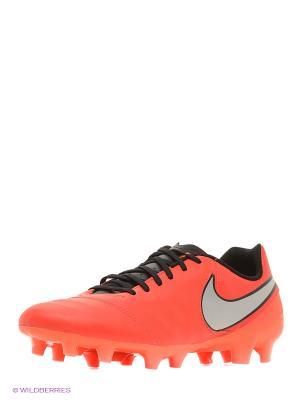 Бутсы TIEMPO GENIO II LEATHER FG Nike. Цвет: красный
