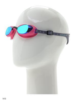 Очки для плавания Speedo. Цвет: розовый, голубой