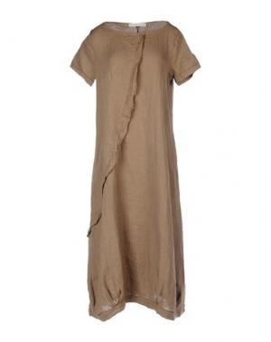 Платье длиной 3/4 LA FABBRICA DEL LINO. Цвет: коричневый