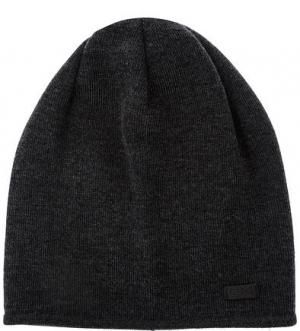 Шерстяная шапка темно-серого цвета Capo. Цвет: серый