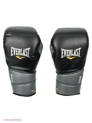 Перчатки тренировочные Protex2 GEL PU Everlast. Цвет: черный