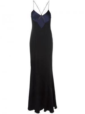 Платье на бреьельках Galvan. Цвет: чёрный