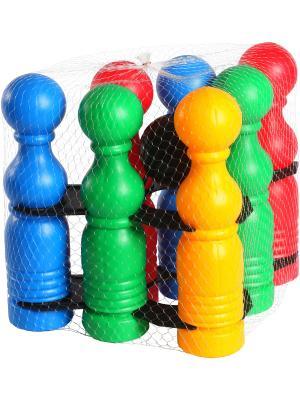 Игрушка развивающая Кегельбан ТИГРЕС. Цвет: синий, зеленый, красный, желтый