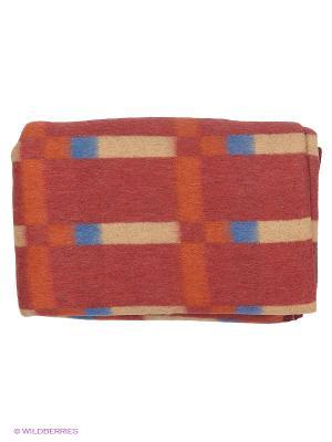 Одеяло Сукно. Цвет: зеленый, оранжевый, белый