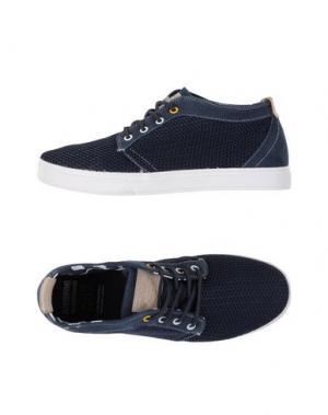 Низкие кеды и кроссовки MONTEFIORI. Цвет: темно-синий