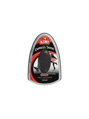 Экспресс губка с дозатором  для обуви черная 7 мл KIWI. Цвет: черный