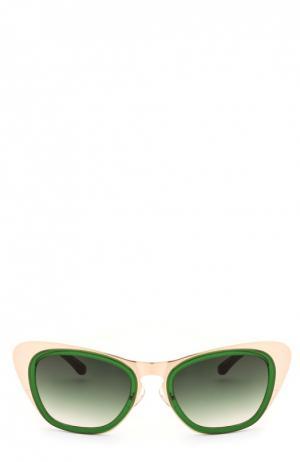Очки солнцезащитные Erdem. Цвет: зеленый