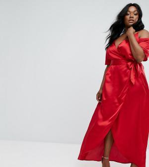 Truly You Платье макси. Цвет: красный