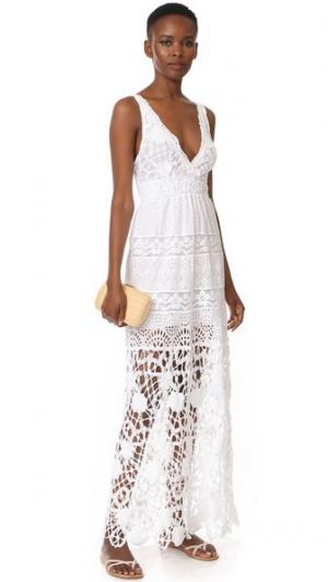 Макси-платье с V-образным вырезом Temptation Positano. Цвет: белый